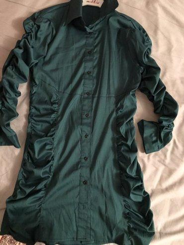 Турецкая новая! щикарная изумрудная рубашка! размер м! в Бишкек