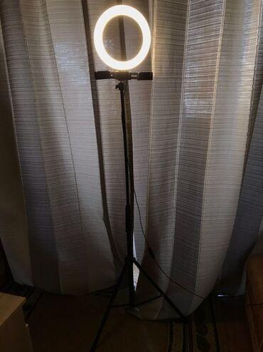 Объективы и фильтры - Кыргызстан: Продаю кольцевую лампу со штативом 170см.в идеальном состоянии