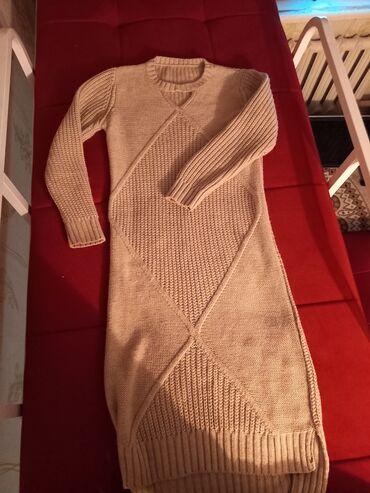Беретка вязанная - Кыргызстан: Вязаный.Теплый.размер 46 состояние отличное