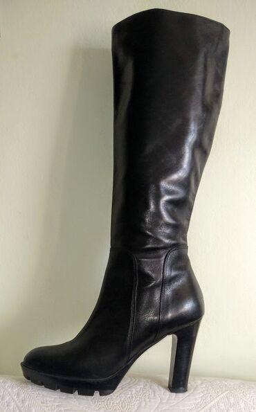 Kratke killah - Srbija: Vrhunske kozne crne Labrador cizme 39 NOVOSavrsene cizme, izradjene od