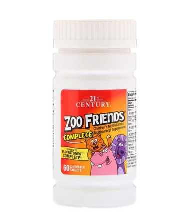 детский мультивитамин в Кыргызстан: 21st Century, Zoo Friends Complete, Children's Multivitamin / Multimin