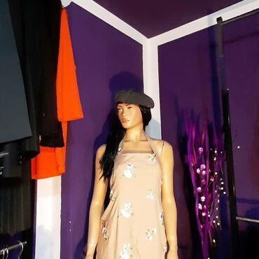 Duga lanena haljina