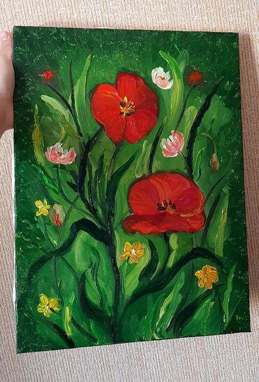"""Картина маслом """"цветы"""" 30на40 2000"""