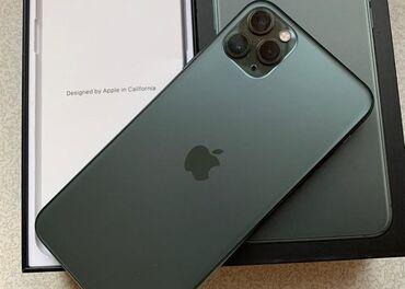 айфон 11 бу цена in Кыргызстан | ЧЕХЛЫ: IPhone 11 Pro Max | 64 ГБ | Зеленый Б/У | Face ID, С документами