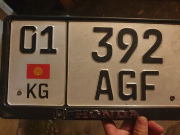 продам гос номер бишкек в Кыргызстан: Найден гос номер 01KG392AGF