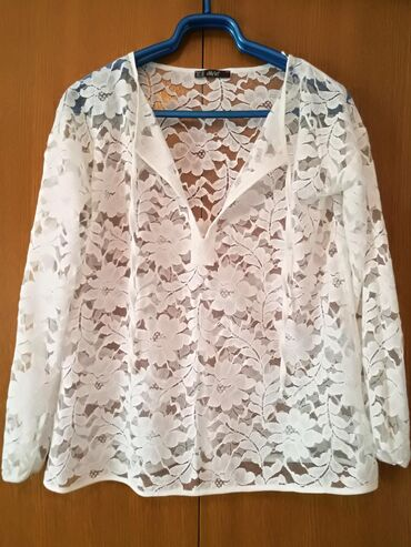 Cipkana bluz - Srbija: Cipkana bela bluza, velicina L