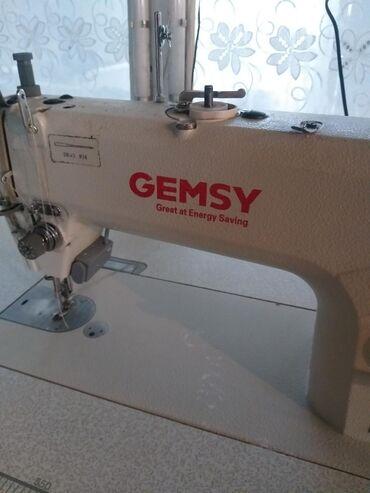 швейная-фурнитура-бишкек в Кыргызстан: Продаётся практически новая швейная машинка Gemsy, прямая строчка,безш
