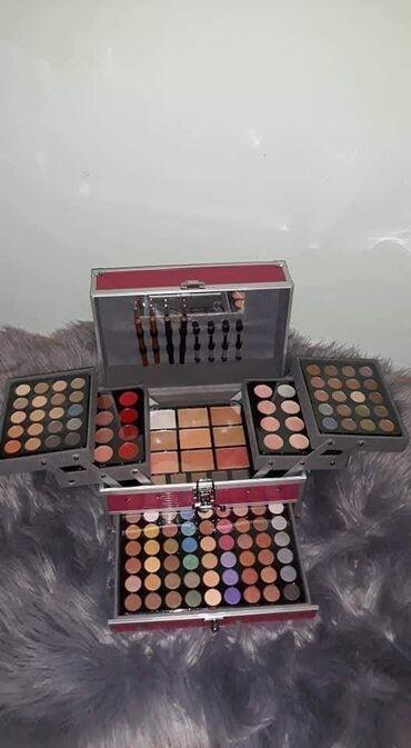 Kozmetika - Srbija: ❤Miss Rose Veliki kofer sa sminkom❤*94 senki *12 ruzeva*12 kremastih