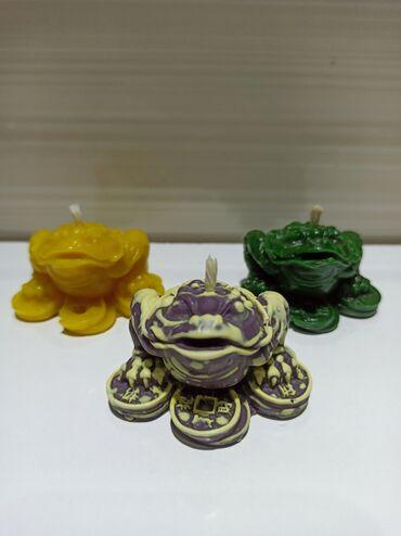 Свечи - Кыргызстан: Трёхлапая жаба.⠀Размер: высота-3.5 5.5 на 6.5 доставка по городу