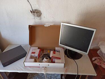 Электроника - Горная Маевка: МониторЖёсткий диск 1терайбайт3 камерыБлок питанияМышка+ Провод для