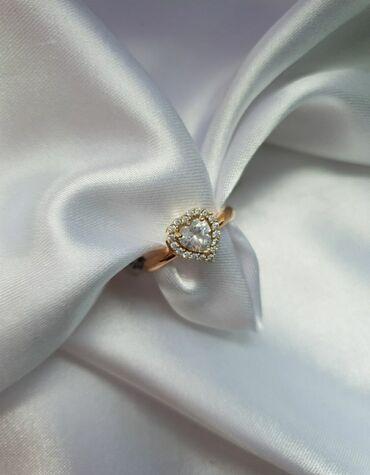 Золотое кольцо с цирконами. Размер 17. 585 проба Россия