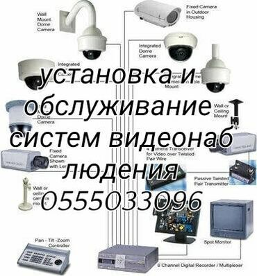 Установка и обслуживание систем видеонаблюдения и систем безопасности