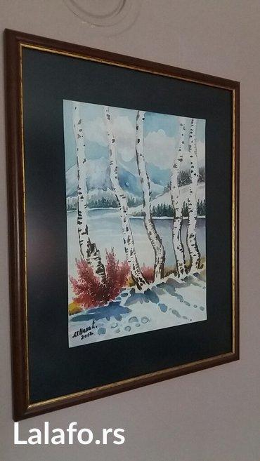 Slika-akvarel-breze-uz 2 kupljene slike besplatna postarina - Nis