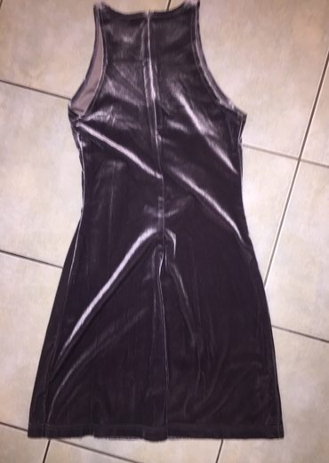 Γκρι - ασημί βελουτέ μίνι φορεμα με σε Υπόλοιπο Αττικής - εικόνες 2