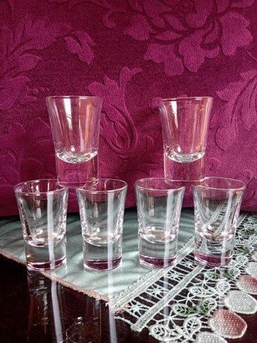 Čaše za piće - Srbija: Casice za pice vise dno nove 6 kom. visina. 7cm. precnik