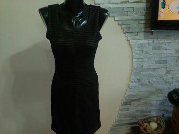 Mala crna haljina , veličina s podstavljena drap podstavom materijal - Pozarevac