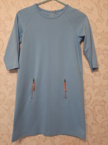 Платье на девочку 8-9 лет,материал плотный трикотаж,сзади застёжка
