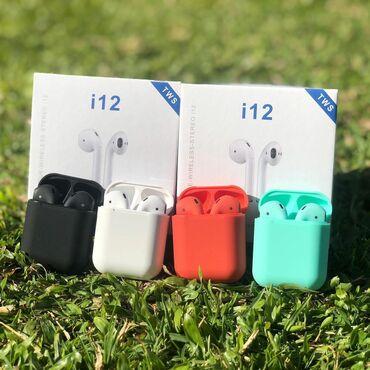 карманный зарядник для телефона в Кыргызстан: - i12 - беспроводные наушники  -1:1 -бесплатная доставка  -сенсор в об