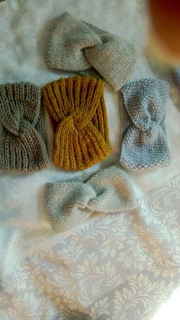 вязанный жакет в Кыргызстан: Вязаные шапочки,шарф  Пряжа Турецкая,повязки  Есть наличие детских шап