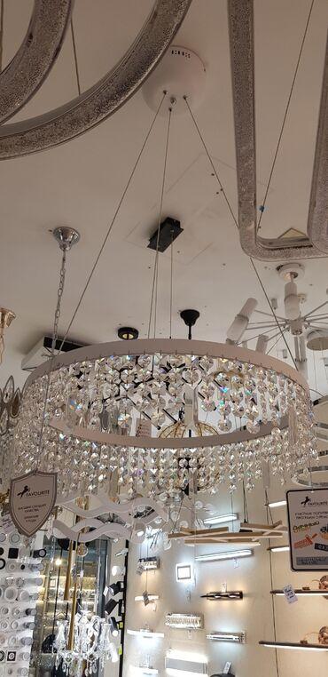 Освещение в Кыргызстан: Люстра 60см диаметр лед хрусталь
