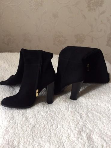 Женская обувь в Ат-Башы: Ботфорды замшевые на 37р. Почти новые. Один раз только одетые. Еврозим