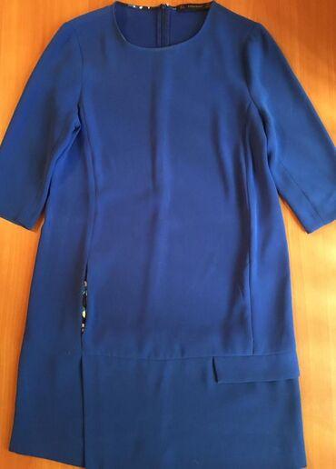 вечернее платье синий цвет в Кыргызстан: Zara платье синего цвета с рукавами 3/4 с карманами.Размер