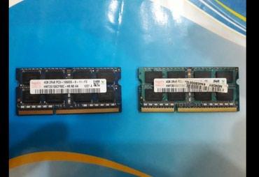 Xaçmaz şəhərində Noutbuklar ucun ramlar.4GB 2 eded ram ddr3.  stol usdu ddr3 ramlari