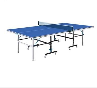 Tenis stolu-tam standarta uyğundu.Ölçü:274sm×152.5sm.Qapalı yer üçün