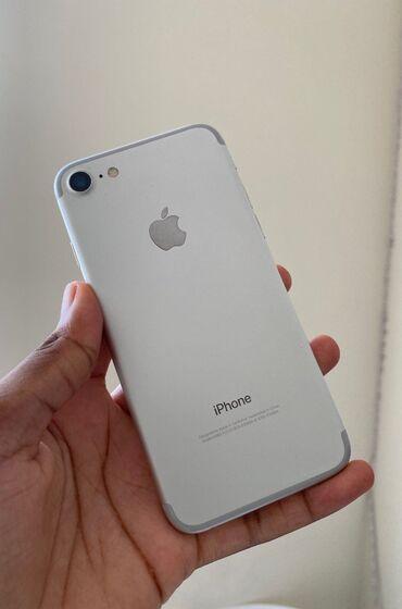 айфон 7 цена in Кыргызстан   APPLE IPHONE: IPhone 7   32 ГБ   Серебристый   Отпечаток пальца