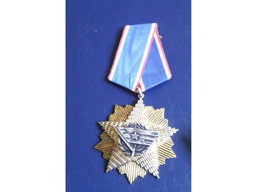 Orden Jugoslovenske zastave 4. red Srebro          stanje je kao na - Majdanpek