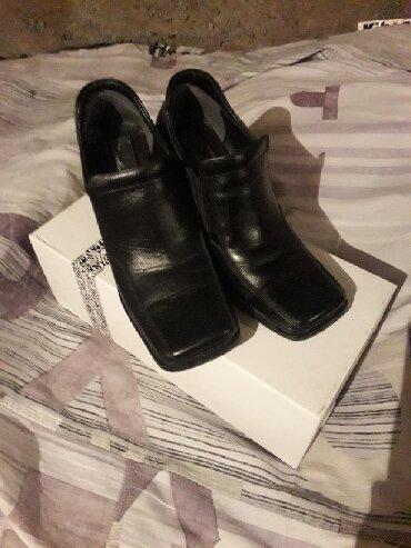 Туфли, польские кожанные, устойчивый каблук, б/у, носились немного
