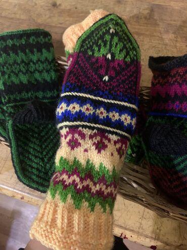 Тёплые носки вязанные носки детские взрослые