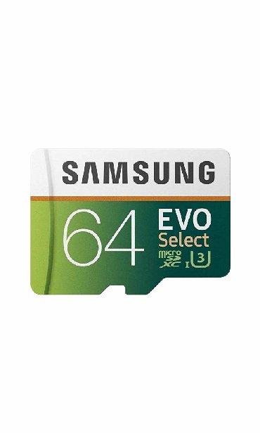 micro-sd - Azərbaycan: Telefon ucun micro sd samsung evo select yaddas karti 64 gb yenidir