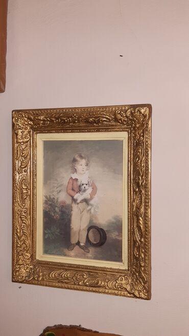 Πινακας 36Χ43 με σκαλιστη κορνιζα vintage απο το 1964 σε αριστη