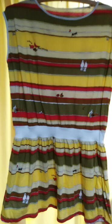 Duks haljina - Crvenka: LETNJA HALJINICA PAMUK. VESELIH BOJA OCUVANA