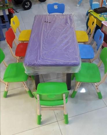Детский мир в Тауз: 8 neferlik,120x60 ölçüde masa,390m muxtelif modelleri ve melumat üçün