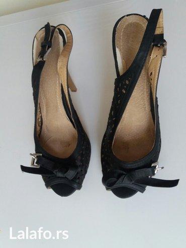 Sandale br 39 odlicne efektne crne - Jagodina