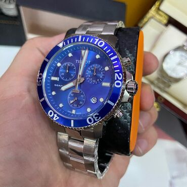 tissot pr100 automatic в Кыргызстан: Синие Мужские Наручные часы Tissot