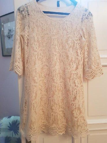 Haljina-cipkasta - Srbija: H&M cipkasta haljina/tunika, prelepa cipka,ima i svilenkastu