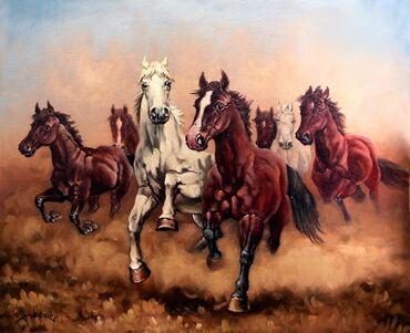 Autor: Dušan VukovićNaziv: Požurite konji mojiTehnika: ulje na