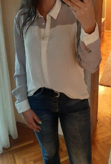 Pantalone-farmerice-br - Srbija: Bela pastel košulja predivni lagan zenstven i prijatan materijal