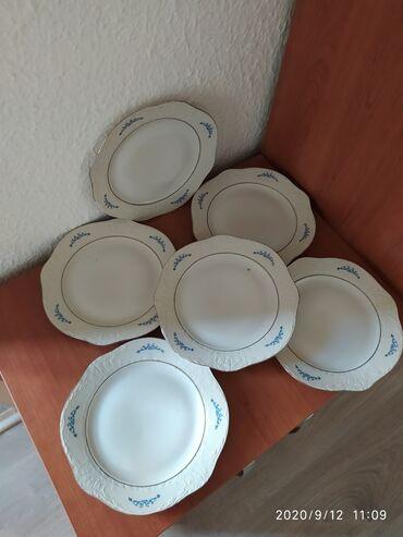Porcelan - Srbija: Porcelanske tanjiri manji 6 komada.Rezervisano