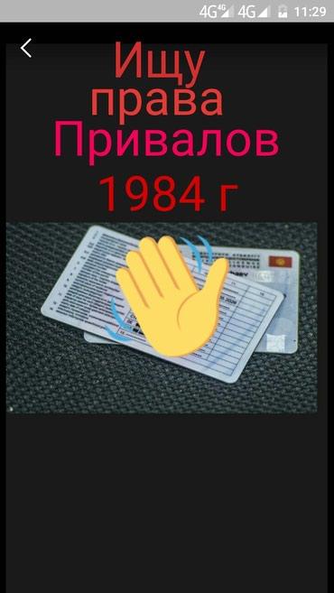 Утеряны права Привалова П Г за вознаграждение в Лебединовка