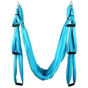 Гамаки - Кыргызстан: Гамак для йоги 250 × 150 см, цвет голубой• Гамак предназначен для