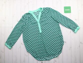 Стильная женская блузка с узором зигзаг,р.L Длина: 69 см Рукава: 48 см