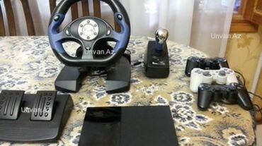 joystik - Azərbaycan: Platstation dəst satılır.hər şeyi var:-qaz,skorus,rol,joystik birdə
