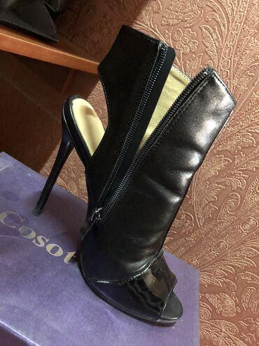 Кожаная обувь размер 36 каблук 8 см