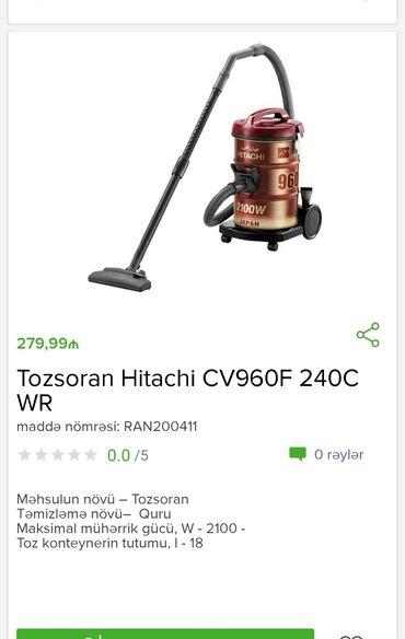 Tozsoran Hitachi Tam zəmanətləNəğd və 1 kartla ödənişEvdən birbaşa