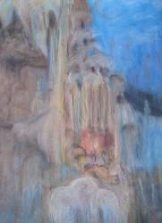 техника фото в Азербайджан: Авторские Картины смеш. техника из серия,Сказка сталактитов,, всег