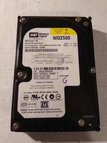 Eksterni hard disk - Srbija: Hard disk WD2500 250GBIspravan 100%, na programu Hard Disk Sentiel i